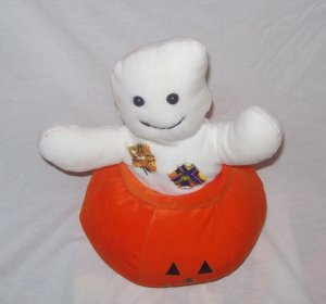 Halloween Decorations, Plush Ghost and Pumpkin