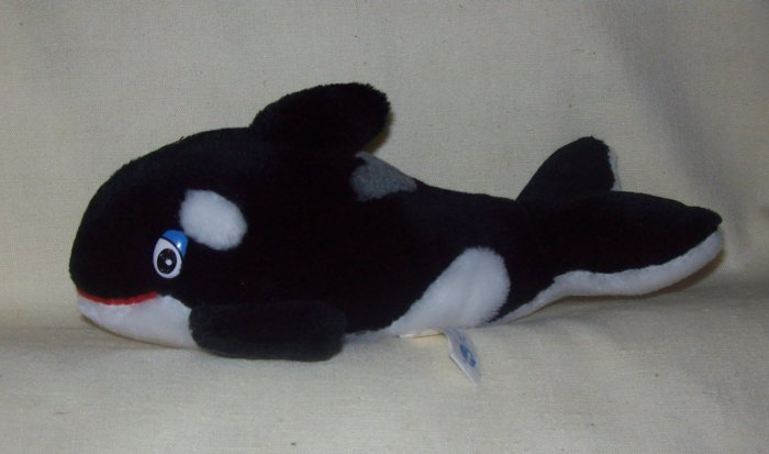 Stuffed Animal Large Dolphin Plush Toy Black And White Dolphin W