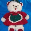 Stuffed Animal, Plush Toy-  1988 Kmart Christmas Bear