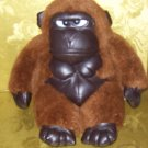 Stuffed Animal, Plush Toy, Meany Gorilla with leatherlike  chest, feet, paws