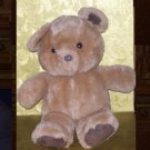 Stuffed Animal, Plush Toy, Tan Bear with brown Suede paws