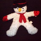 **STUFFED ANIMALS -  Plush Toy, Christmas Snow Man w/ BLACK hat and RED shawl