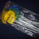 "12"" Floral Picks for Father's Day Arrangements, yellow, blue, green in color"