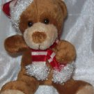 "**Stuffed Animal, Plush Toy, Christmas Plush Toy, 5"" tall Stuffed Santa Bear"