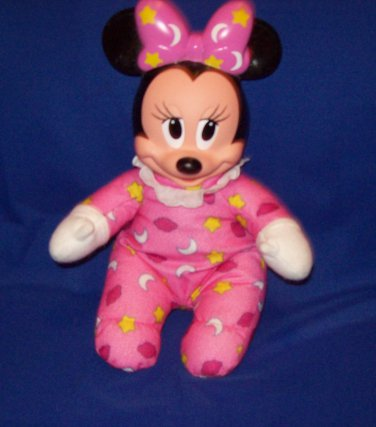 Baby Minnie Mouse plush toy, with soft lightweight flannel cloth body