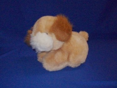 Stuffed Animal, Plush Toy Dog By Gund. Tan, brown, and cream colored.