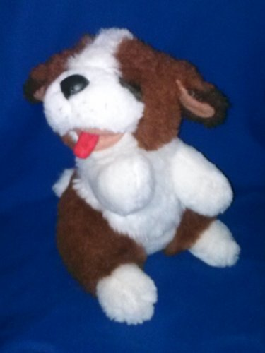 Stuffed Animal, Plush Toy, Brown and white Dog, 1994