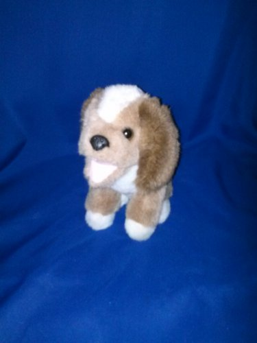 Stuffed Animal, Plush Toy, Brown and white Dog,