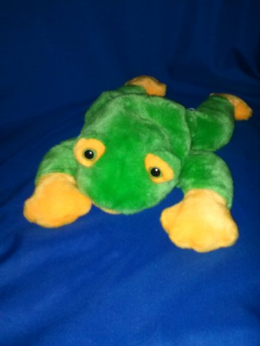 Stuffed Animal, Plush Toy, Green and yellow Ty beanie buddies collection frog