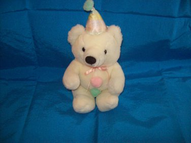 Stuffed Animal, Plush Toy, wind up Birthday bear  plays happy birthday song