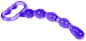 Acrylic Beaded Pleasure Wand - Purple - DJ5621-02