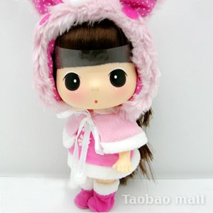 [Official] ddung [christmas shawl rabbit] ;lovely toy; [Free Shipping]