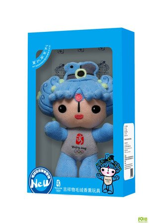 [official] 30cm 2008 Olympic Mascot Fuwa  [Free Shipping]