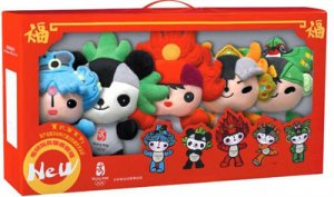 [official] 30cm 2008 Olympic Mascot Fuwa  [1 set] [Free Shipping]