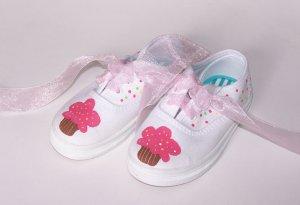 Gymboree Custom Shoes M2M Cupcake Cutie