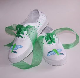Custom Painted Dragonfly Shoes