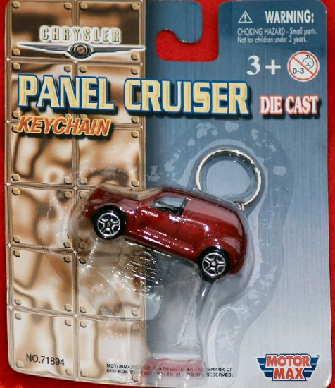 PT Panel Cruiser Keychain, Motor Max, Die Cast Red NIP