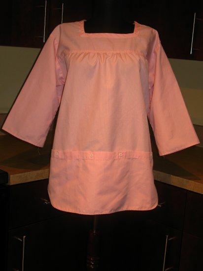 Vintage 70s WHITTENTON Nurse Scrubs Nursing Uniform Top Medium