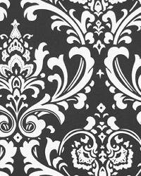 Damask aisle runner 25 ft long Traditions white on black
