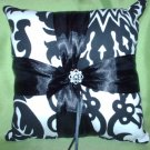 damask ring bearer bearer's pillow black and white Amsterdam