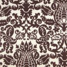 "Chocolate Brown  Damask table square Amsterdam print Chocolate and White 18"" square for centerpiece"