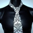 Damask Necktie Men's Madison Black White Men Tie Bridal
