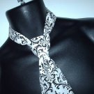 Damask Boys Necktie Madison Black White Tie Ringbearer