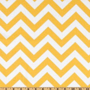 """Yellow Chevron runner 72"""" Zigzag Table runner Chevron yellow and white"""