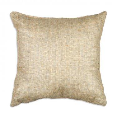 "Burlap pillow cover 16x16"" square natural color rustic charm"