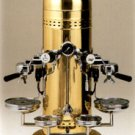 Polished Brass Dome Vertical Espresso Machine
