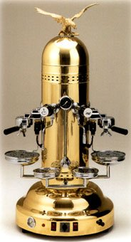 Polished Brass Dome Vertical Espresso Machine