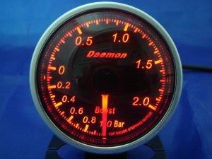 Daemon Professional 60mm Stepper Motor Boost Gauge