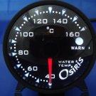 Osiris Professional 60mm Stepper Motor Water Temperature Gauge BLACK RIM