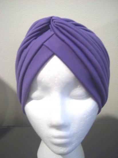Purple Turban Hat