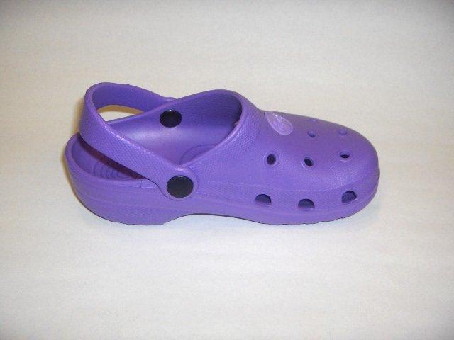 Girls Boys Kids' Children Clogs Mules Slides Sandals Purple, Size 8