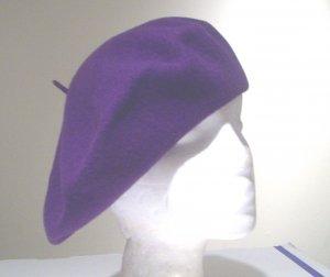 Women Men Purple Slouchy Beret Tam Hat Cap Newsboy Beanie Skull