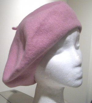Women Men Women Pink French Slouchy Beret Tam Hat Cap