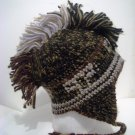 Men Women Multi Colored  Brown Tan  Mohawk Trooper Trapper Flap Eskimo Hat Cap