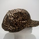 Women Brand New Leopard Velvet Newsboy Animal Winter Hat Cap