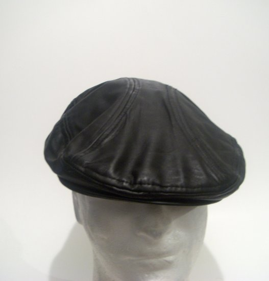 Men Women Leather Driving Cap Newsboy Gatsby Ivy Hat L Xl