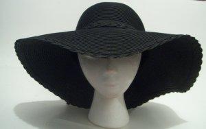 Black Floppy  Straw Bride Church Wedding Derby Easter Sun Hat