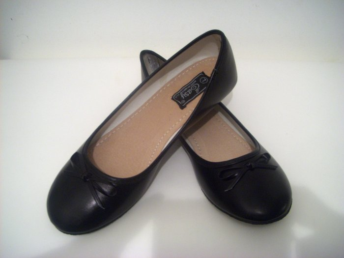 women black bridal wedding prom ballet shoes flats size 11
