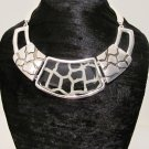 New Giraffe Print Bib Chunky Choker Statement Necklace