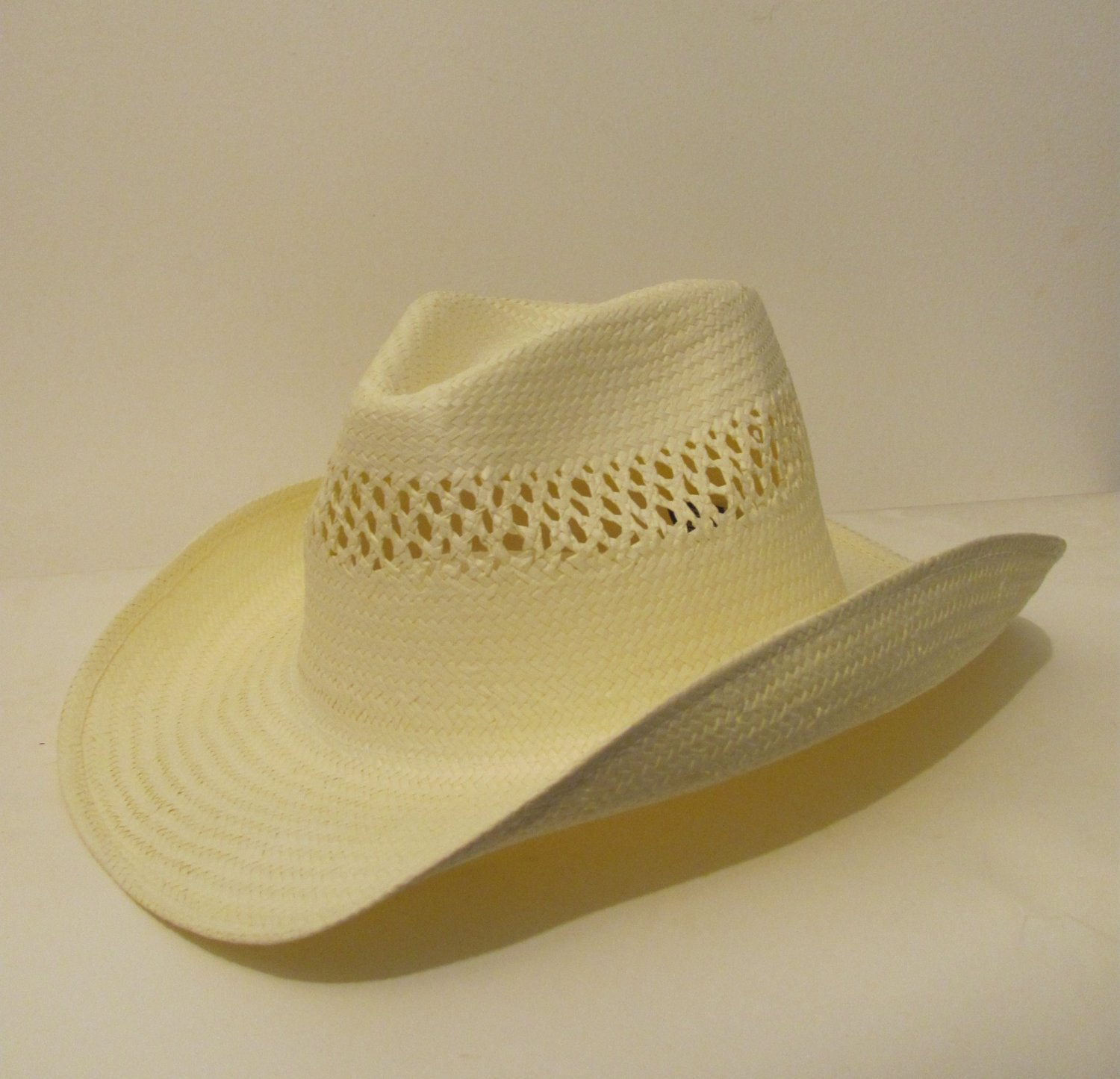 Men Women Natural Straw Western Cowboy Hat Cap