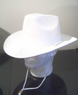 Women Men White Western Cowboy Straw Sun Visor Beach Hat