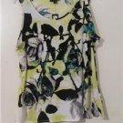 Brand New Women Floral Shirt Blouses  Summer CruiseTops Sleeveless Size XL