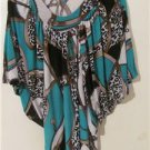 Brand New Women Geometric Shirt Blouses Tops Short Sleeve Size L XL 1X 2X