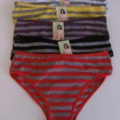 5 Pairs Wholesale Women Girl Striped Brief Underwear Cotton Spandex Panties XL