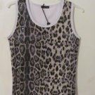 NWTSequin Leopard Sexy Tank Top Camisole Cami Cocktail Stretch Plus Size 2X