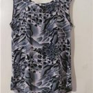 Brand New Women Plus Size 3X Tunic Geometric Shirt Blouses Tops Short Sleeve